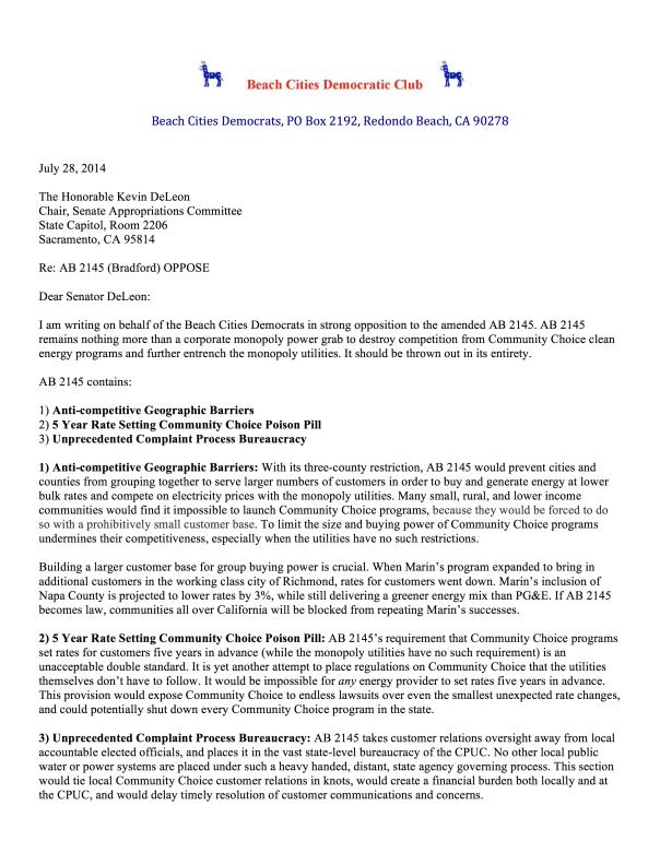 BCD_No_On_AB_2145_Letter_7-28-14 pg1