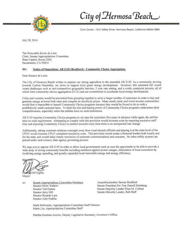 July 28 Hermosa Beach AB 2145-Opposition Letter 072814-signed